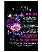 To my mom 2 16x24 Poster front
