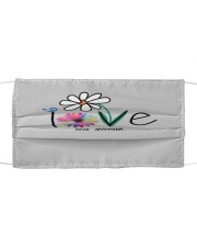 Love one another Cloth face mask front