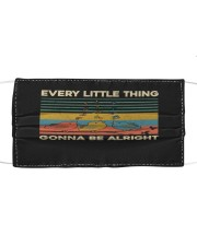 Every little Thing Gonna Be Alright - Hippie Cloth face mask front