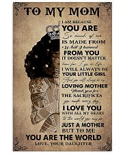 To my mom 16x24 Poster front