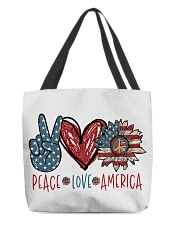 Peace love america All-over Tote thumbnail