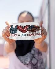 Peace love america Cloth face mask aos-face-mask-lifestyle-07