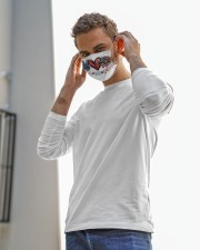 Peace love america Cloth face mask aos-face-mask-lifestyle-12