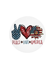 Peace love america Circle Cutting Board thumbnail