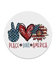 Peace love america Circle Coaster thumbnail