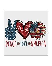 Peace love america Square Coaster thumbnail