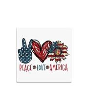 Peace love america Square Magnet thumbnail