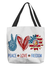 Love and peace All-Over Tote tile