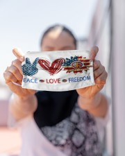Love and peace Cloth face mask aos-face-mask-lifestyle-07