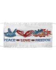 Love and peace Cloth face mask front
