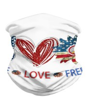 Love and peace Neck Gaiter tile