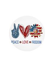 Love and peace Circle Cutting Board tile