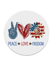 Love and peace Circle Coaster tile