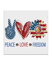 Love and peace Square Coaster tile