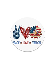Love and peace Circle Magnet tile