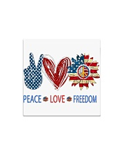 Love and peace Square Magnet tile
