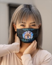 Assuming I Am Just An funny hippie design Cloth face mask aos-face-mask-lifestyle-18