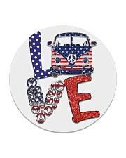 Love peace van Circle Coaster thumbnail