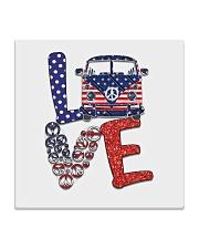 Love peace van Square Coaster thumbnail