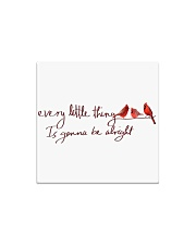 every little thing is gona be alright bird Square Magnet thumbnail