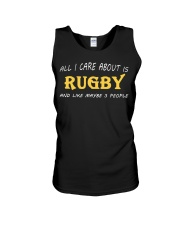 All I Care About Is Rugby And Like Maybe 3 People Unisex Tank thumbnail