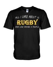 All I Care About Is Rugby And Like Maybe 3 People V-Neck T-Shirt thumbnail