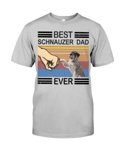 Schnauzer T-shirt - Best Schnauzer Dad Ever