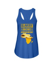 Black History Didn't Start with Slavery Ladies Flowy Tank front