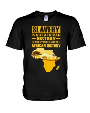 Black History Didn't Start with Slavery V-Neck T-Shirt thumbnail