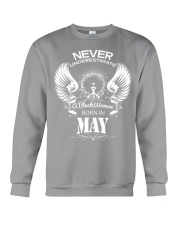 Black Woman Born in May Crewneck Sweatshirt thumbnail