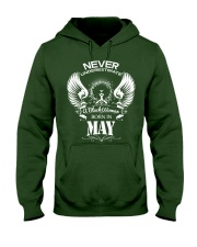 Black Woman Born in May Hooded Sweatshirt thumbnail