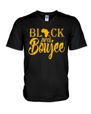 Black And Boujee  V-Neck T-Shirt thumbnail