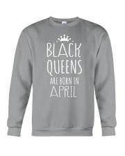 Black Queens are born in April Crewneck Sweatshirt thumbnail