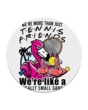 Tennis Friends Circle Coaster tile