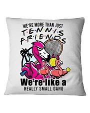Tennis Friends Square Pillowcase front