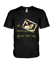 Saint Bernadette T Shirt Virgin Sai V-Neck T-Shirt tile