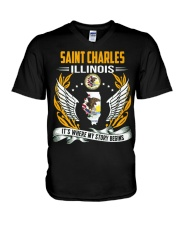 Saint Charles Illinois V-Neck T-Shirt thumbnail