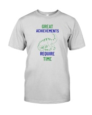Great Achievements Require Time Premium Fit Mens Tee front