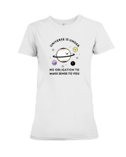 The universe and its meaning Premium Fit Ladies Tee thumbnail