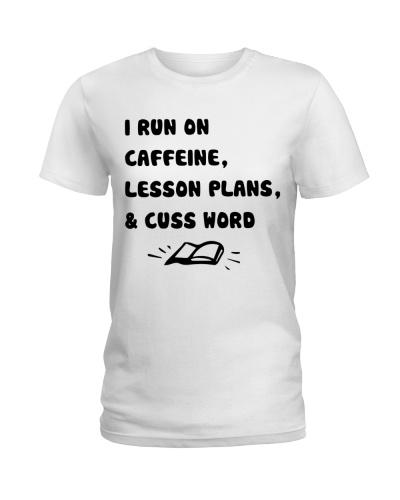 I Run On Caffeine Lesson Plans and Cuss Word
