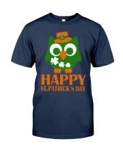 Happy Saint Patrick's day owl shamrock Tee Classic T-Shirt front