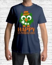 Happy Saint Patrick's day owl shamrock Tee Classic T-Shirt lifestyle-mens-crewneck-front-1