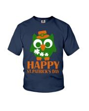 Happy Saint Patrick's day owl shamrock Tee Youth T-Shirt thumbnail