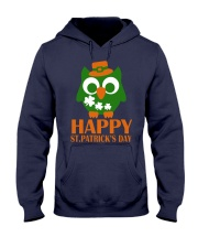 Happy Saint Patrick's day owl shamrock Tee Hooded Sweatshirt thumbnail