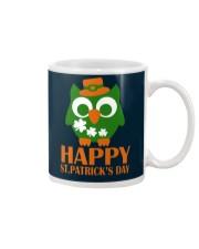Happy Saint Patrick's day owl shamrock Tee Mug thumbnail