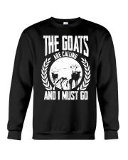 The Goat Are Calling And I Must Go Goat Shirt Farm Crewneck Sweatshirt thumbnail