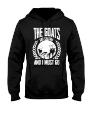 The Goat Are Calling And I Must Go Goat Shirt Farm Hooded Sweatshirt thumbnail
