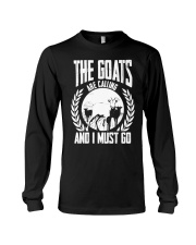 The Goat Are Calling And I Must Go Goat Shirt Farm Long Sleeve Tee thumbnail