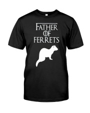 Father of Ferrets Cute  Funny Ferret Lover T-Shirt Classic T-Shirt front