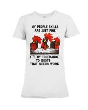 my people skills are just fine Premium Fit Ladies Tee thumbnail